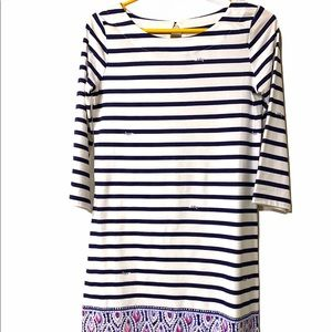 Lilly Pulitzer Sophie dress XS blue white striped